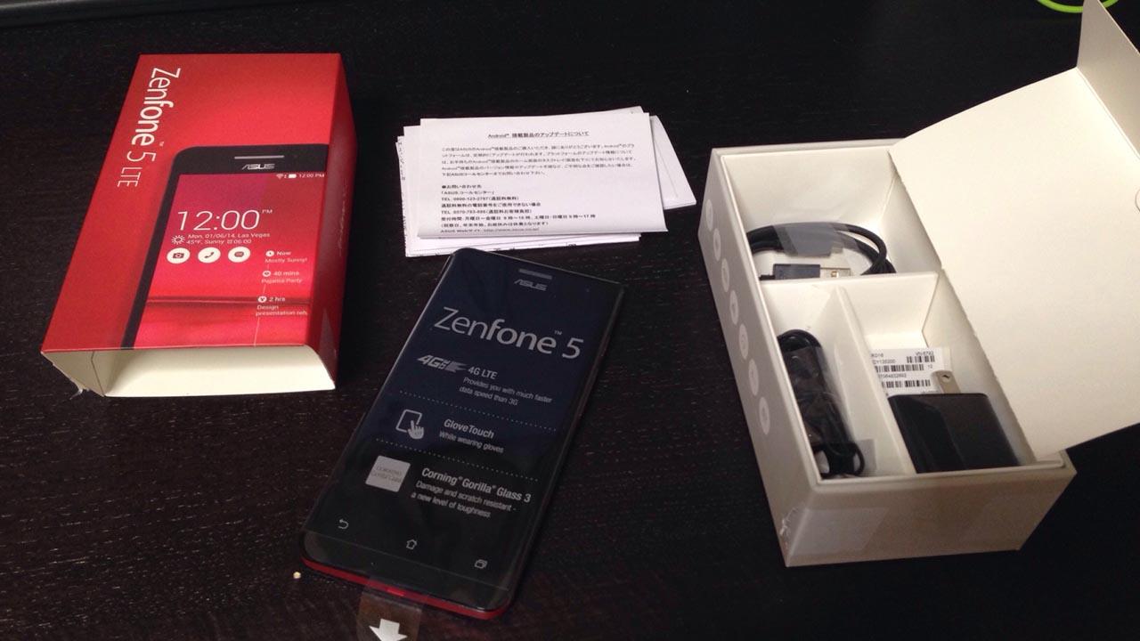 Zenfone5の内容